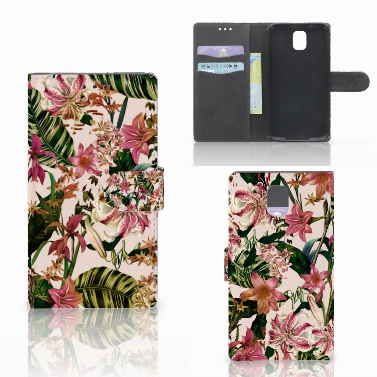 Samsung Galaxy Note 3 Hoesje Flowers