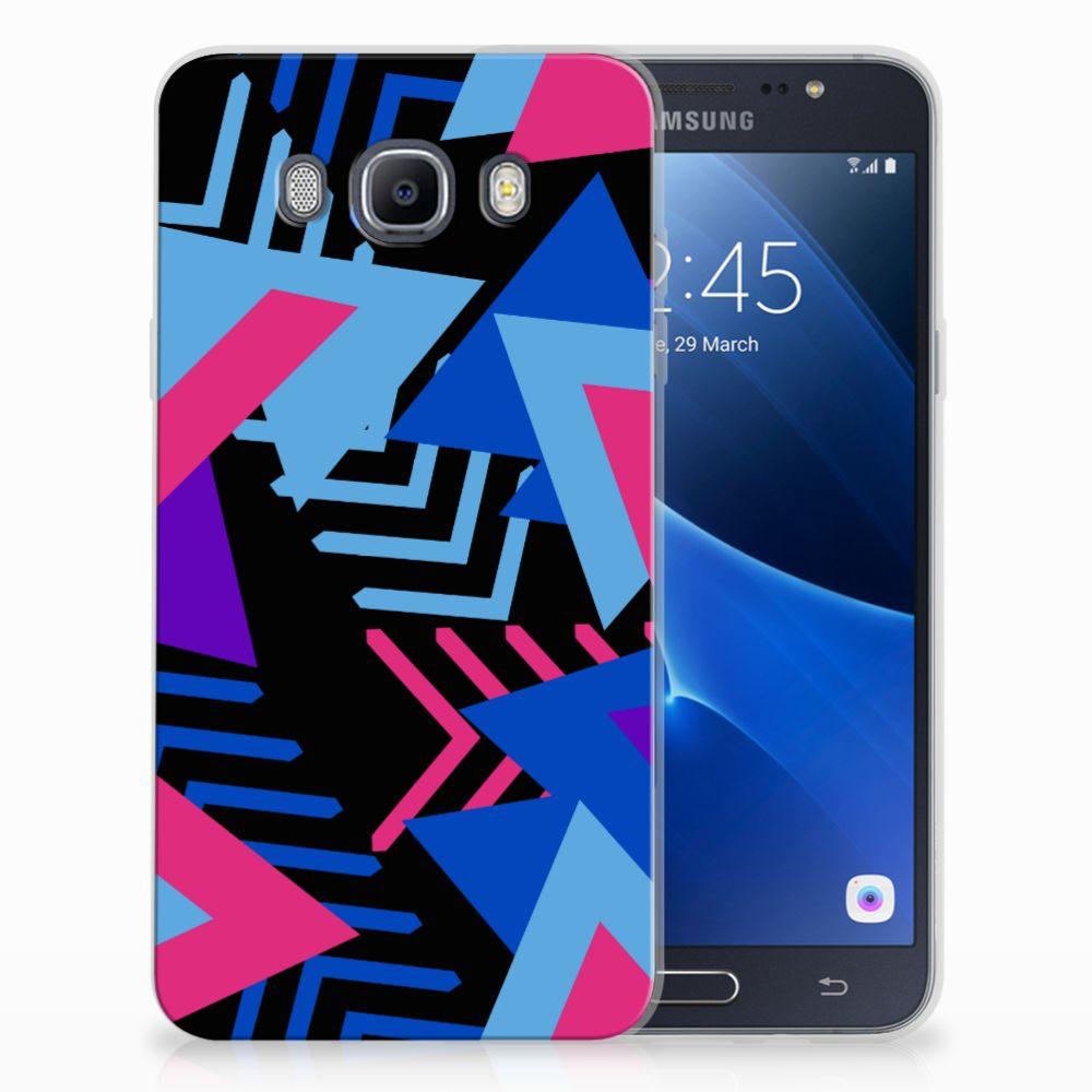 Samsung Galaxy J7 2016 TPU Hoesje Funky Triangle