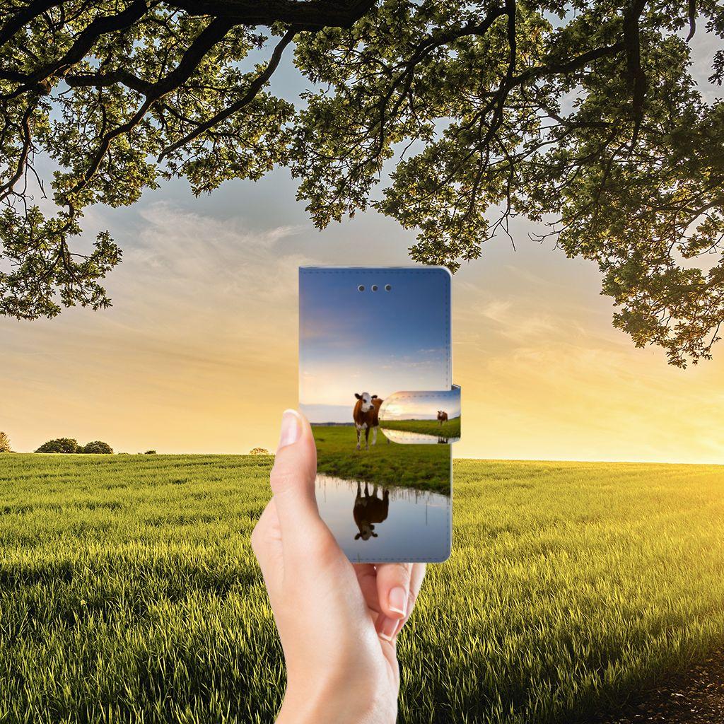 Huawei Ascend P8 Lite Telefoonhoesje met Pasjes Koe