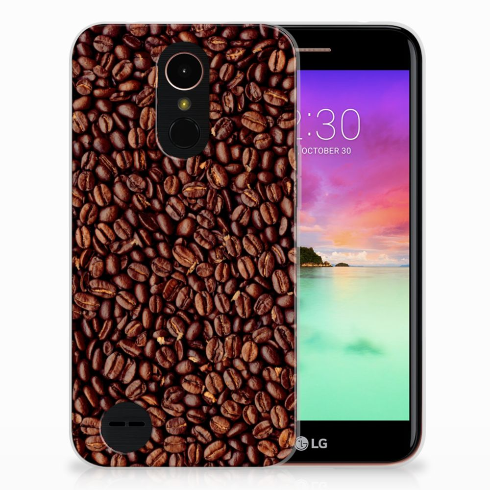 LG K10 2017 Siliconen Case Koffiebonen