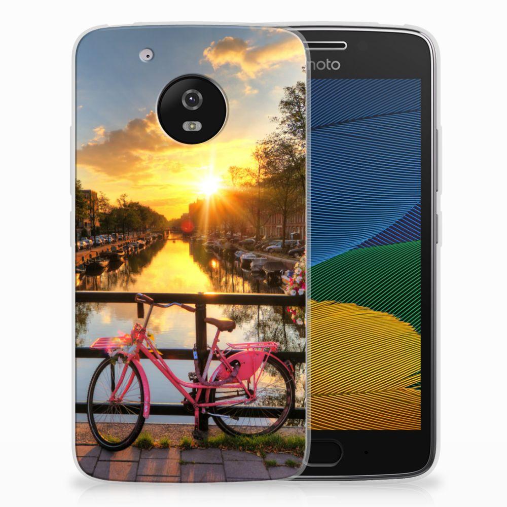 Motorola Moto G5 Uniek TPU Hoesje Amsterdamse Grachten