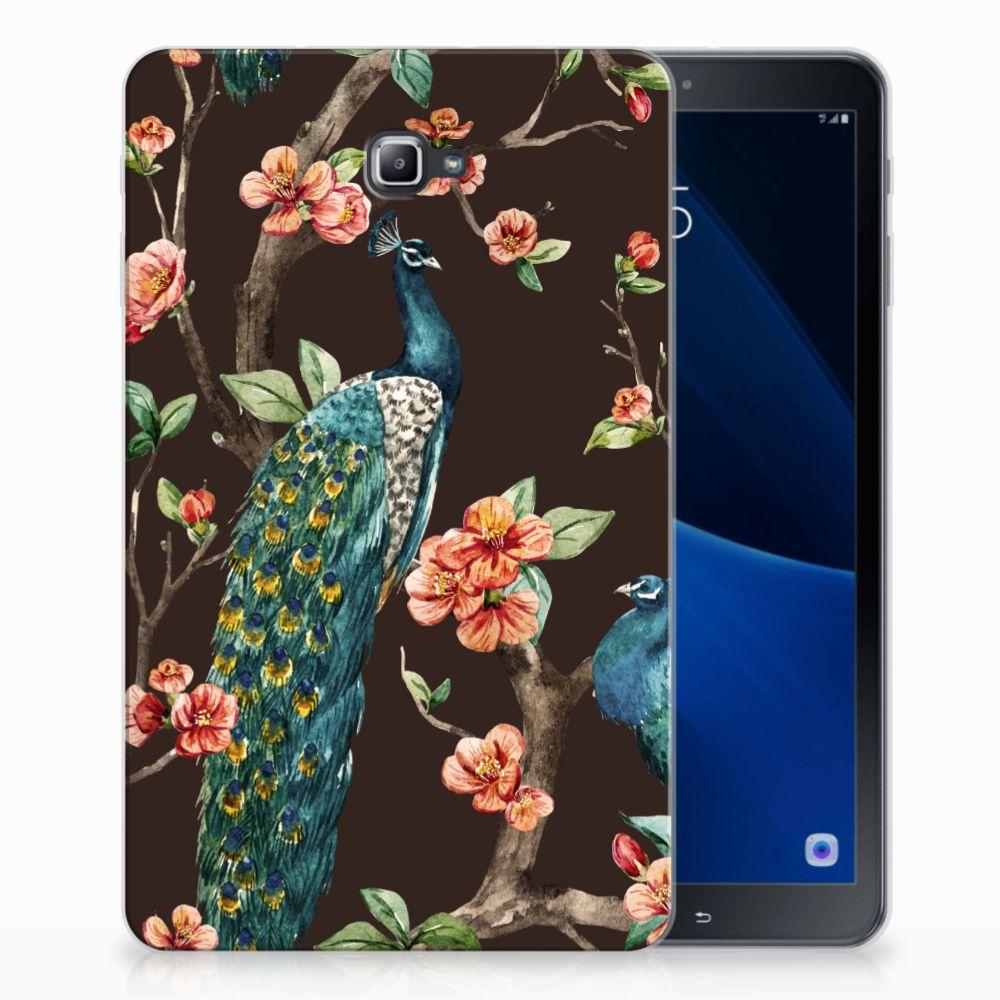 Samsung Galaxy Tab A 10.1 Back Case Pauw met Bloemen