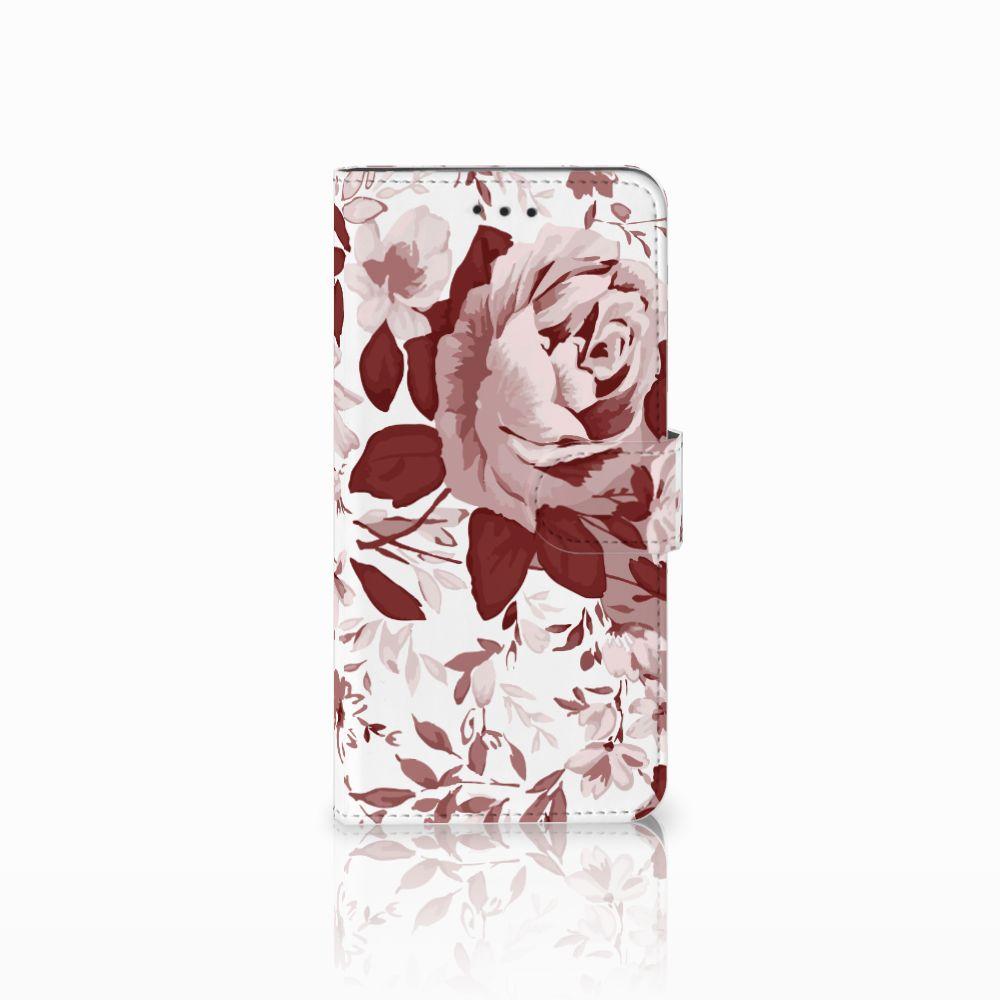Motorola Moto E5 Play Uniek Boekhoesje Watercolor Flowers