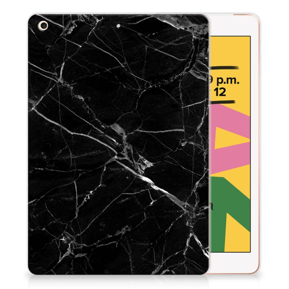 Apple iPad 10.2 (2019) Tablet Back Cover Marmer Zwart