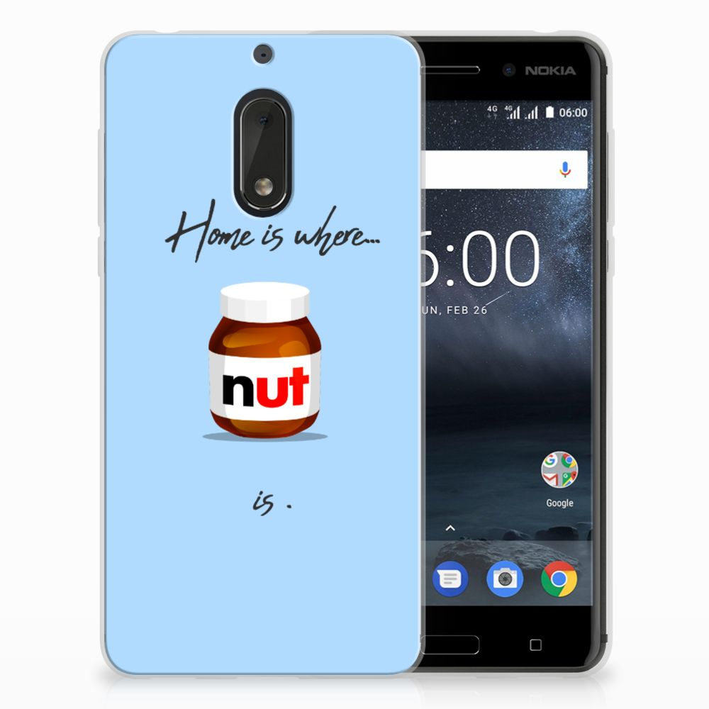 Nokia 6 Siliconen Case Nut Home