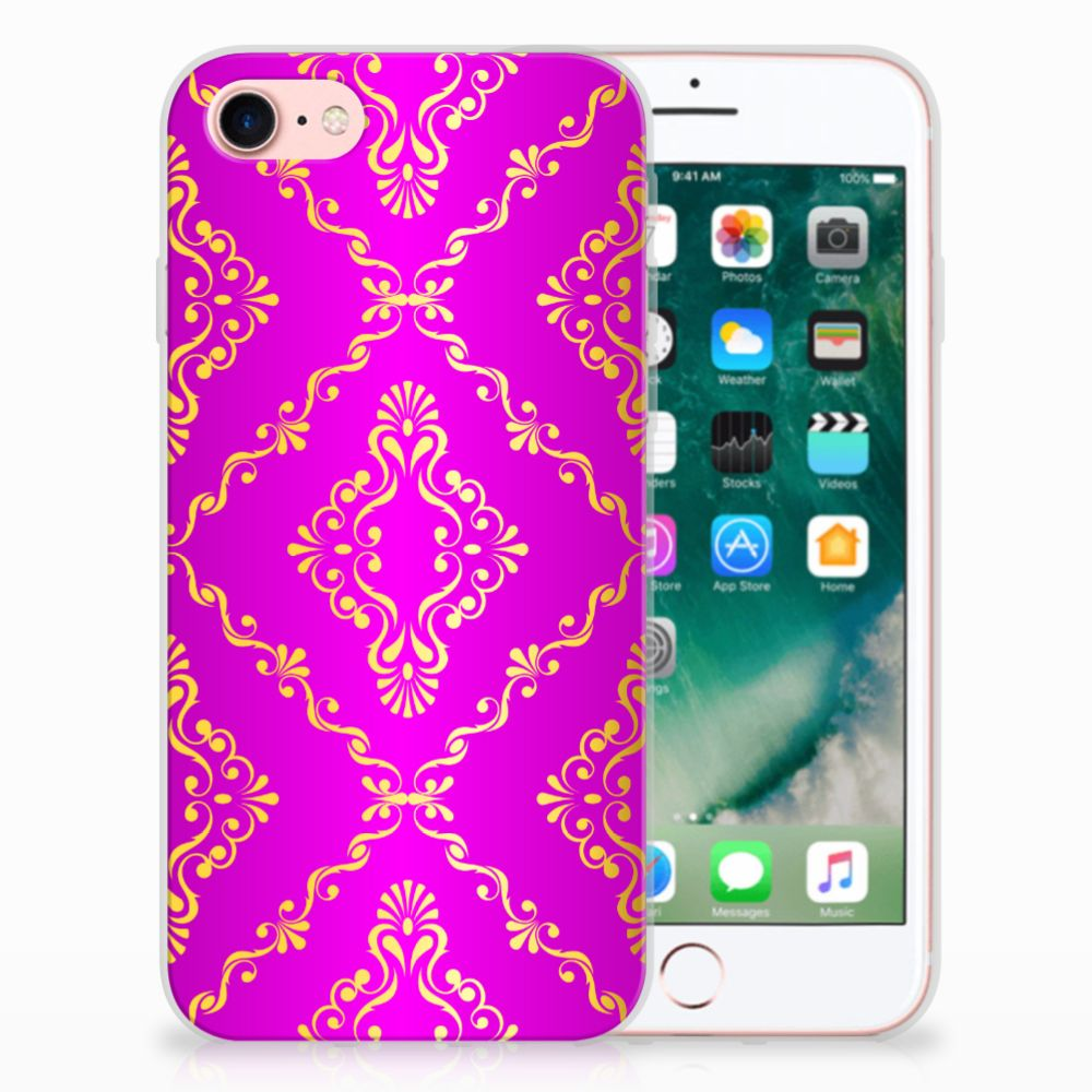 Apple iPhone 7 | 8 Uniek TPU Hoesje Barok Roze