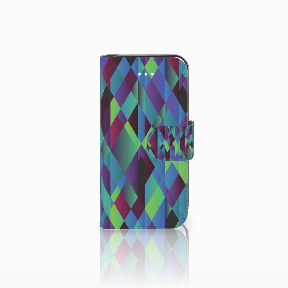 Apple iPhone 5 | 5s | SE Bookcase Abstract Green Blue