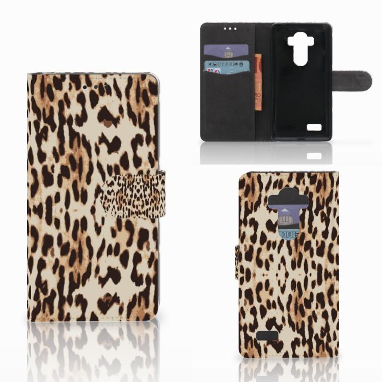 LG G4 Telefoonhoesje met Pasjes Leopard