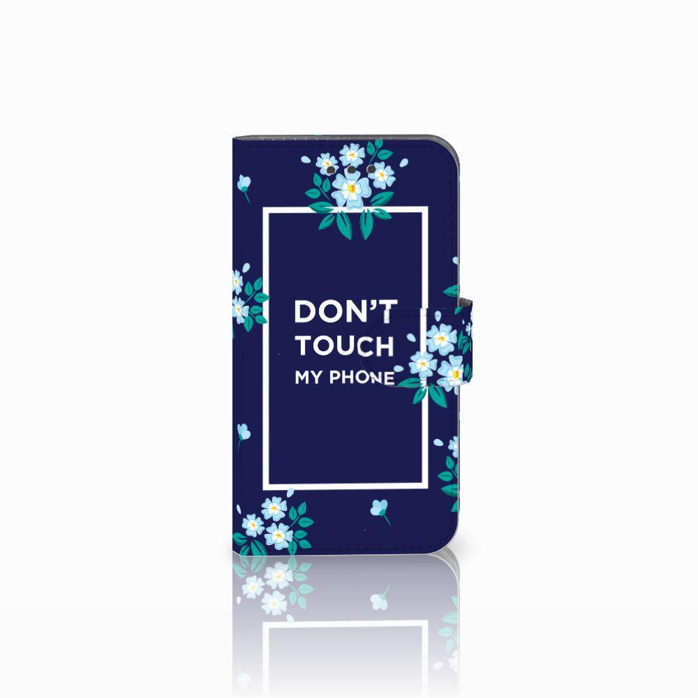 Samsung Galaxy Xcover 3   Xcover 3 VE Boekhoesje Flowers Blue DTMP