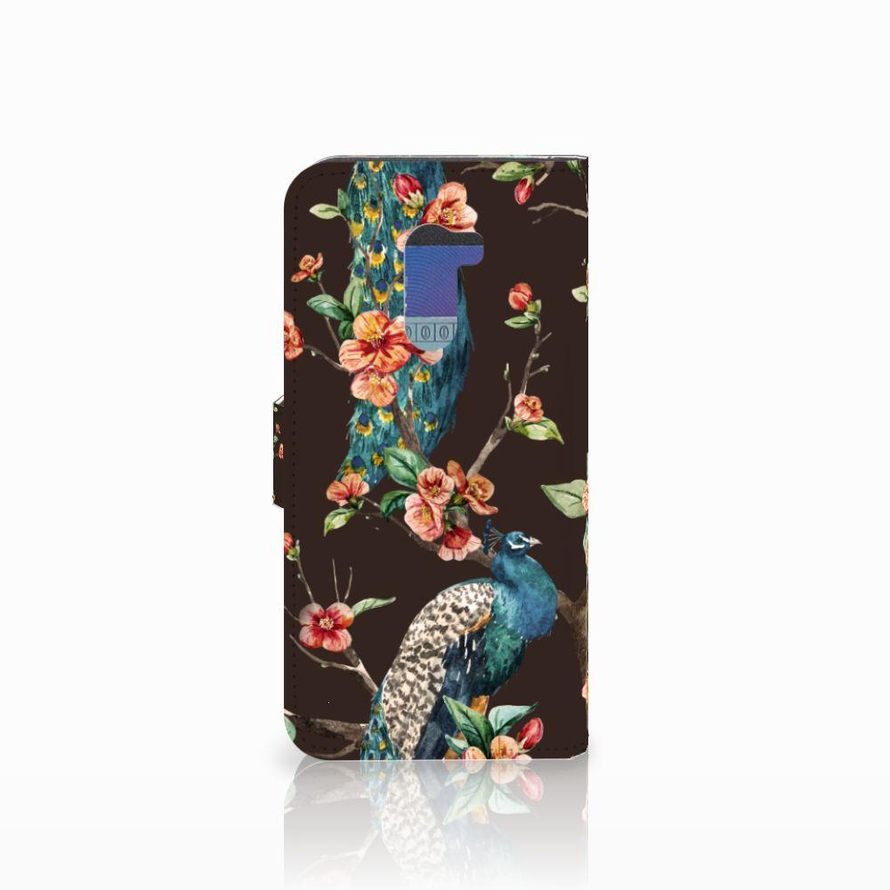 Xiaomi Pocophone F1 Telefoonhoesje met Pasjes Pauw met Bloemen