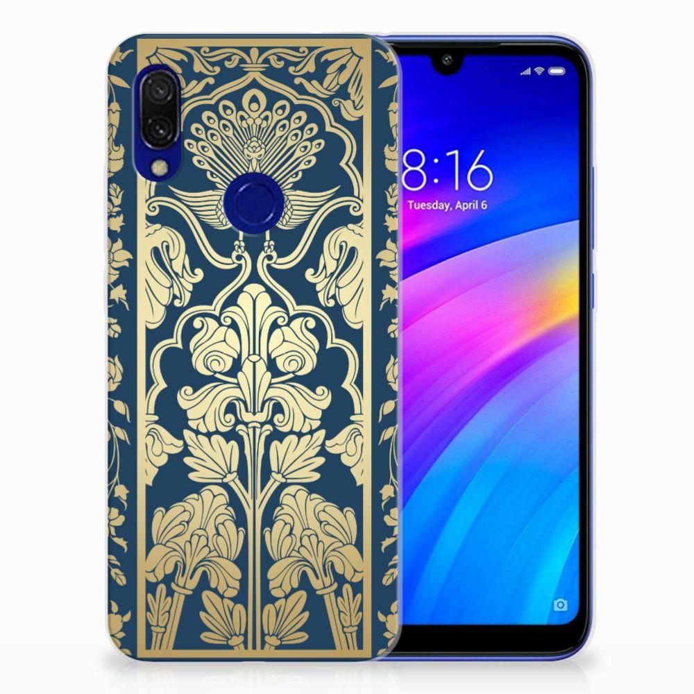 Xiaomi Redmi 7 TPU Case Golden Flowers