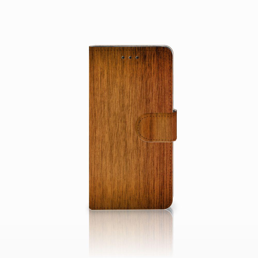 Huawei Y5 2018 Uniek Boekhoesje Donker Hout