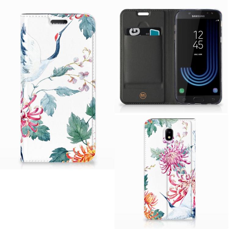 Samsung Galaxy J5 2017 Hoesje maken Bird Flowers