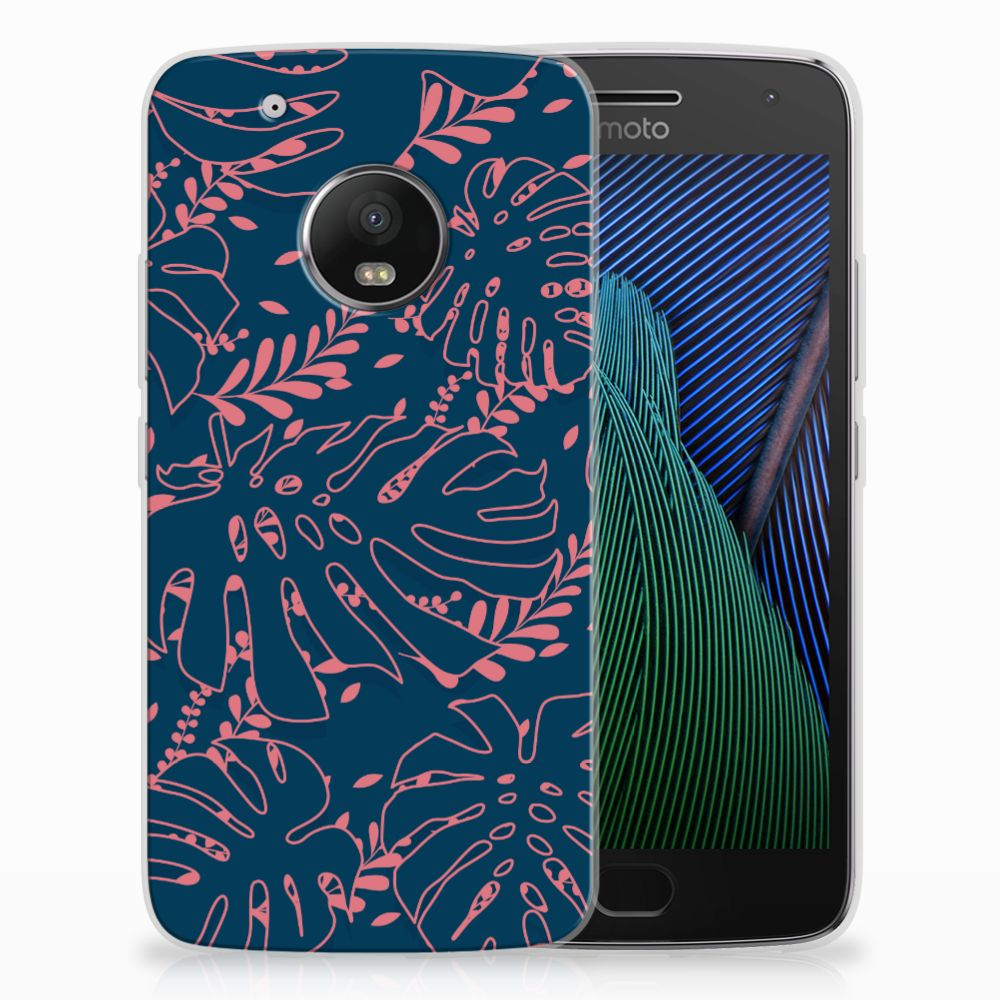 Motorola Moto G5 Plus TPU Hoesje Design Palm Leaves