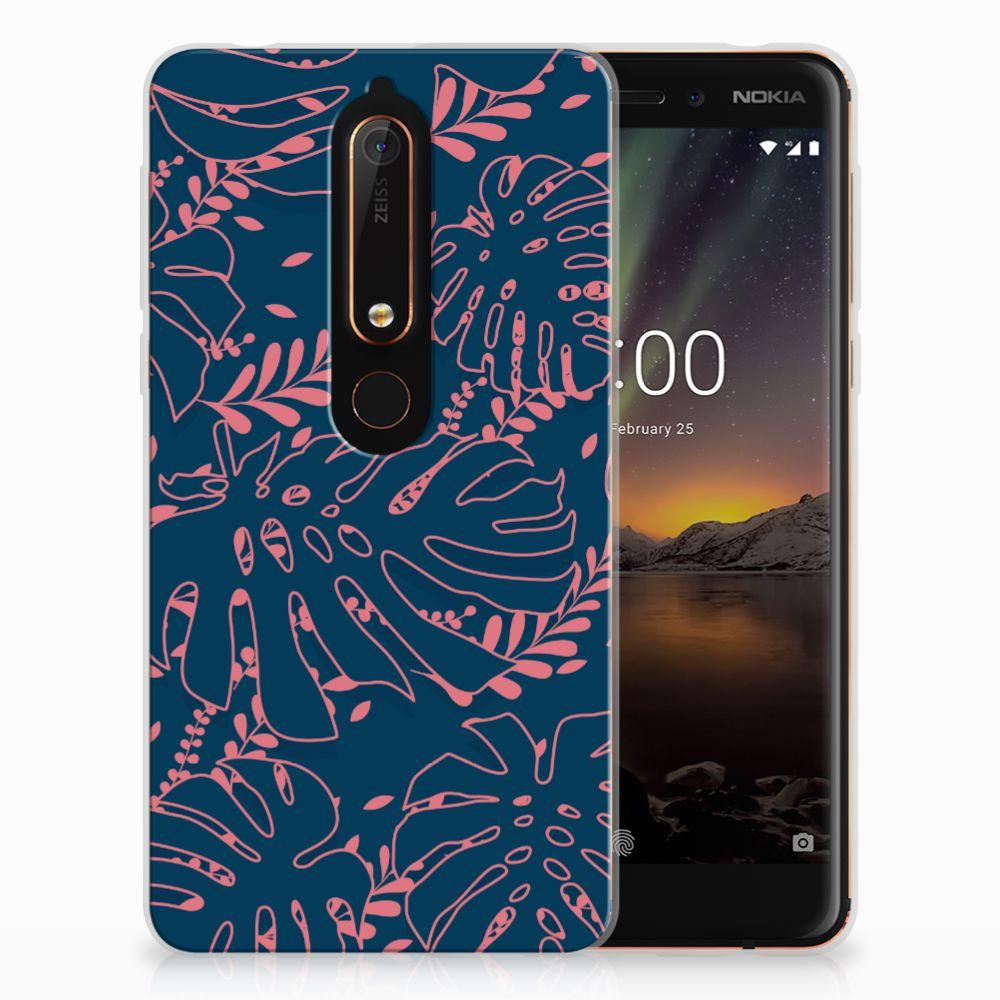 Nokia 6 (2018) TPU Hoesje Design Palm Leaves