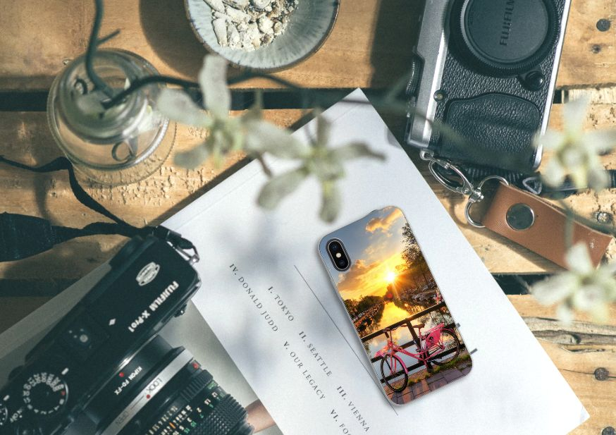 Apple iPhone X | Xs Uniek TPU Hoesje Amsterdamse Grachten