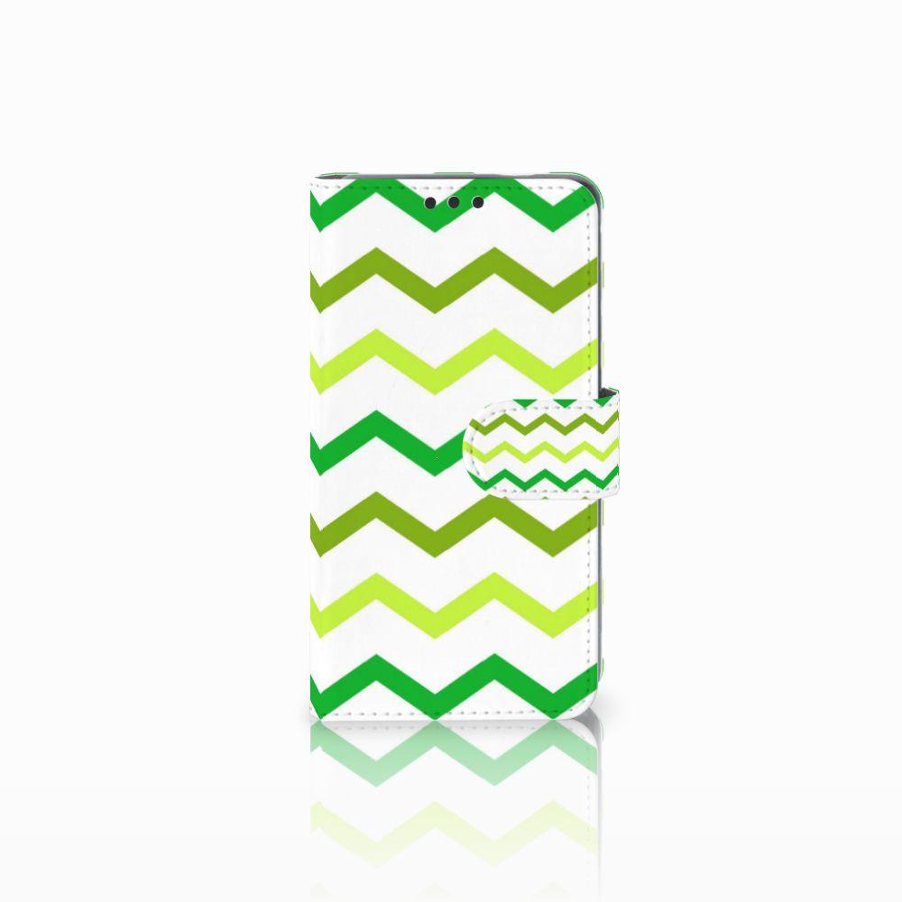 Nokia 3 Uniek Boekhoesje Zigzag Groen