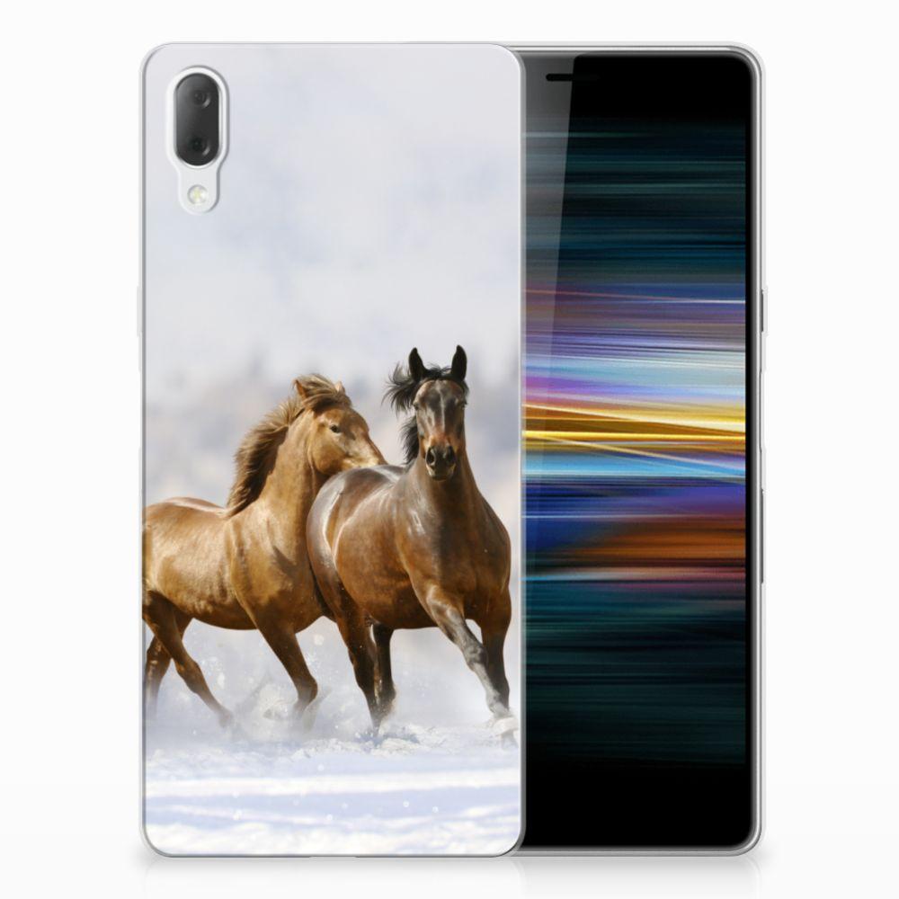 Sony Xperia L3 Leuk Hoesje Paarden