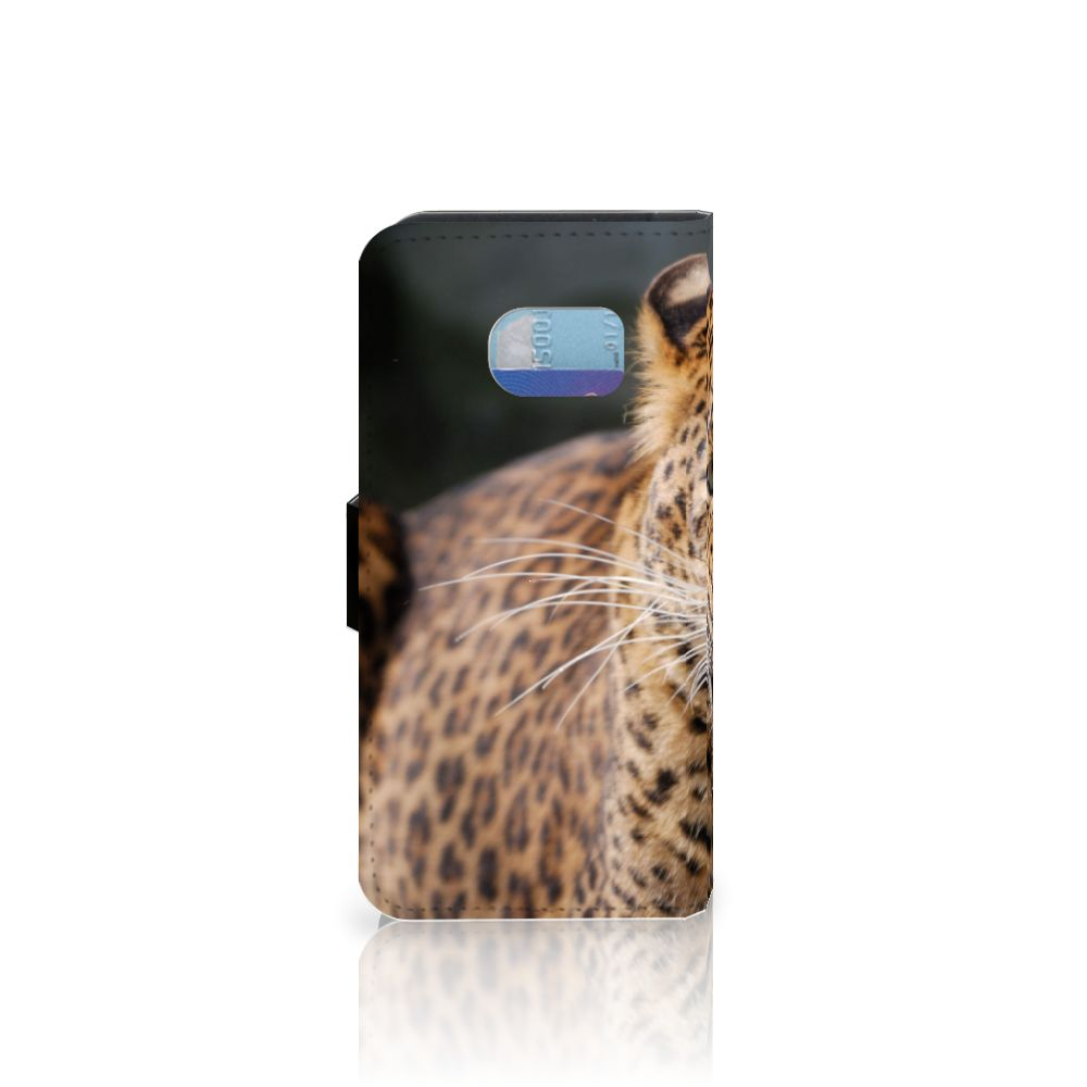 Samsung Galaxy S6 Edge Telefoonhoesje met Pasjes Luipaard