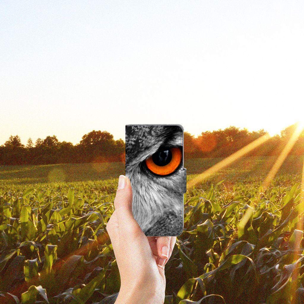 Samsung Galaxy A3 2015 Telefoonhoesje met Pasjes Uil