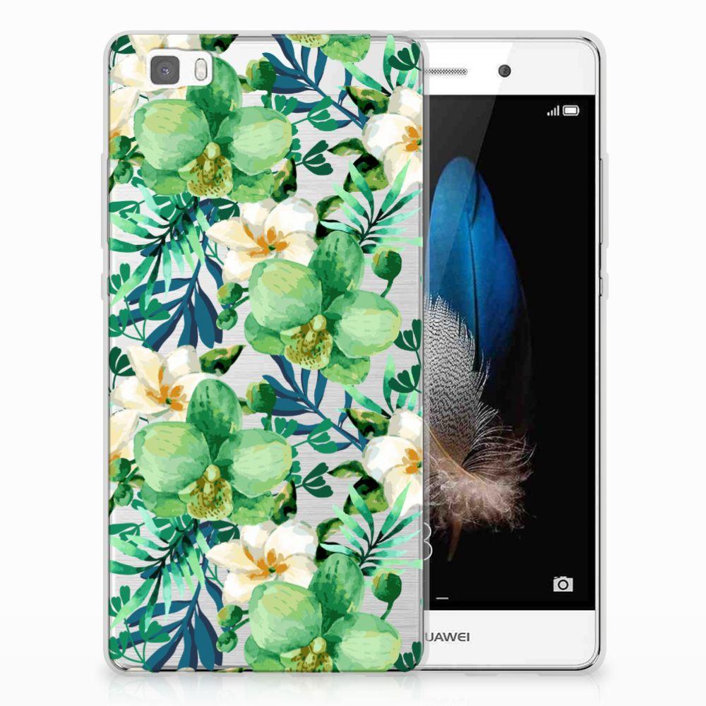 Huawei Ascend P8 Lite TPU Case Orchidee Groen