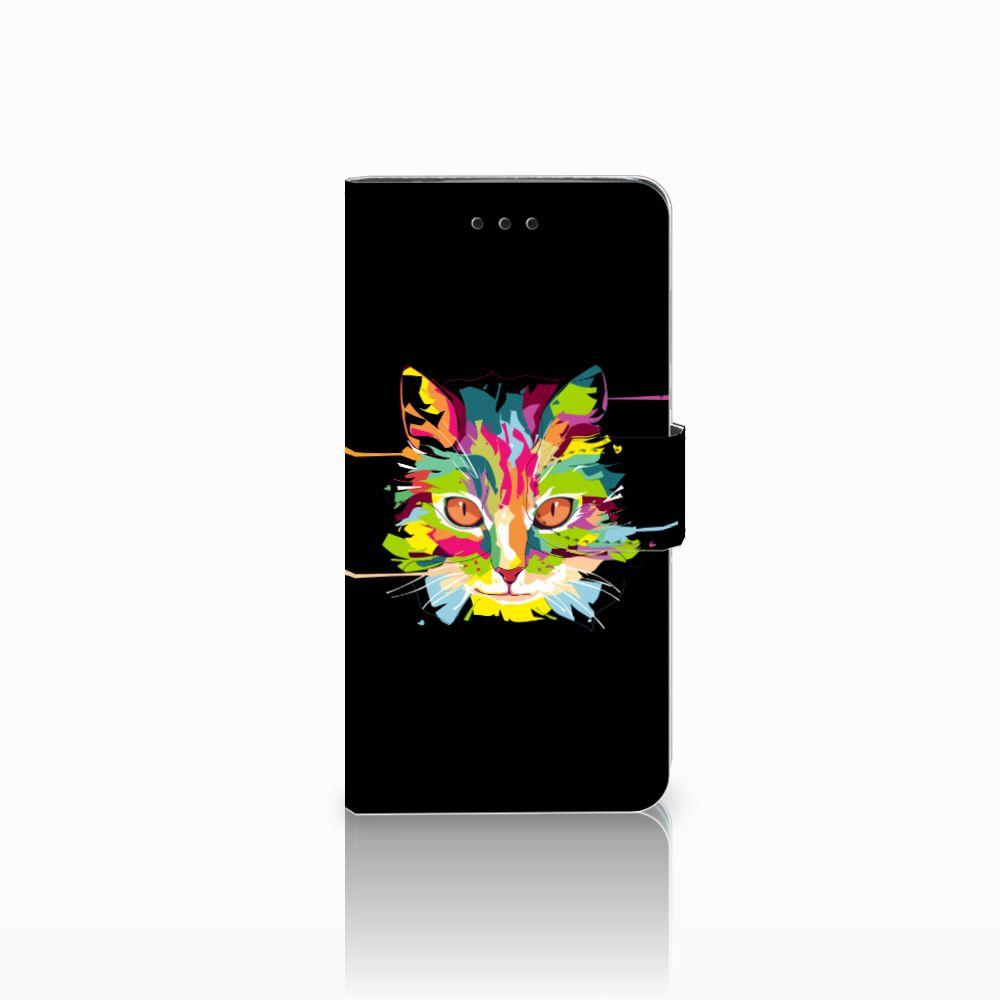 Huawei Y5 2018 Uniek Boekhoesje Cat Color