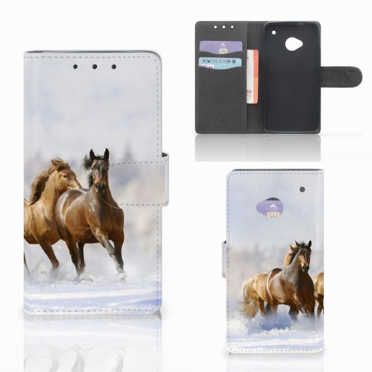 HTC One M7 Telefoonhoesje met Pasjes Paarden