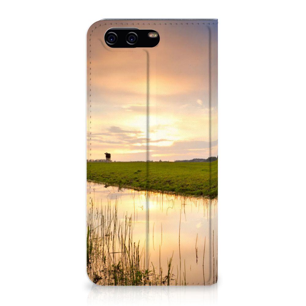 Huawei P10 Standcase Hoesje Design Koe