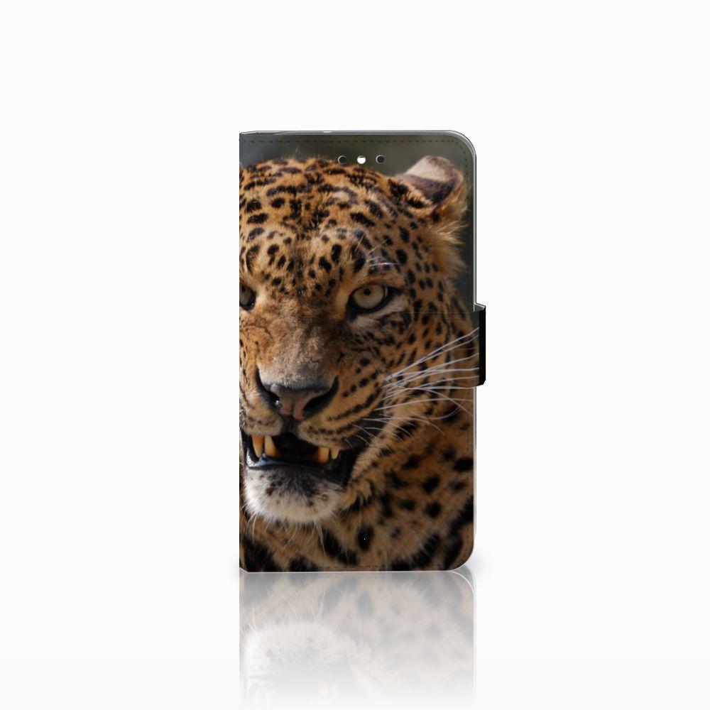 Motorola Moto G4 | G4 Plus Telefoonhoesje met Pasjes Luipaard