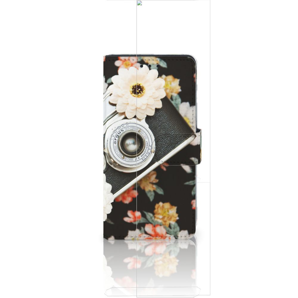 Huawei Ascend P8 Lite Uniek Boekhoesje Vintage Camera