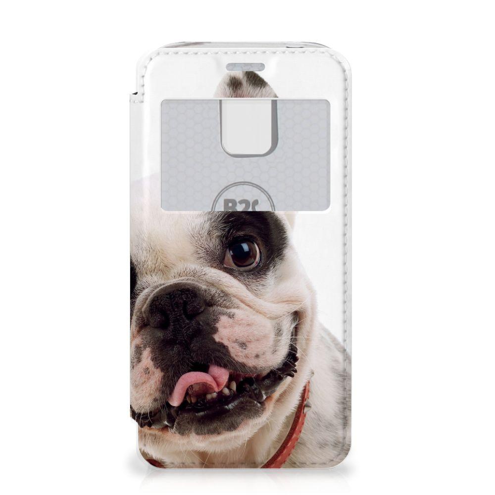 Samsung Galaxy S5 Mini Telefoonhoesje met Pasjes Franse Bulldog
