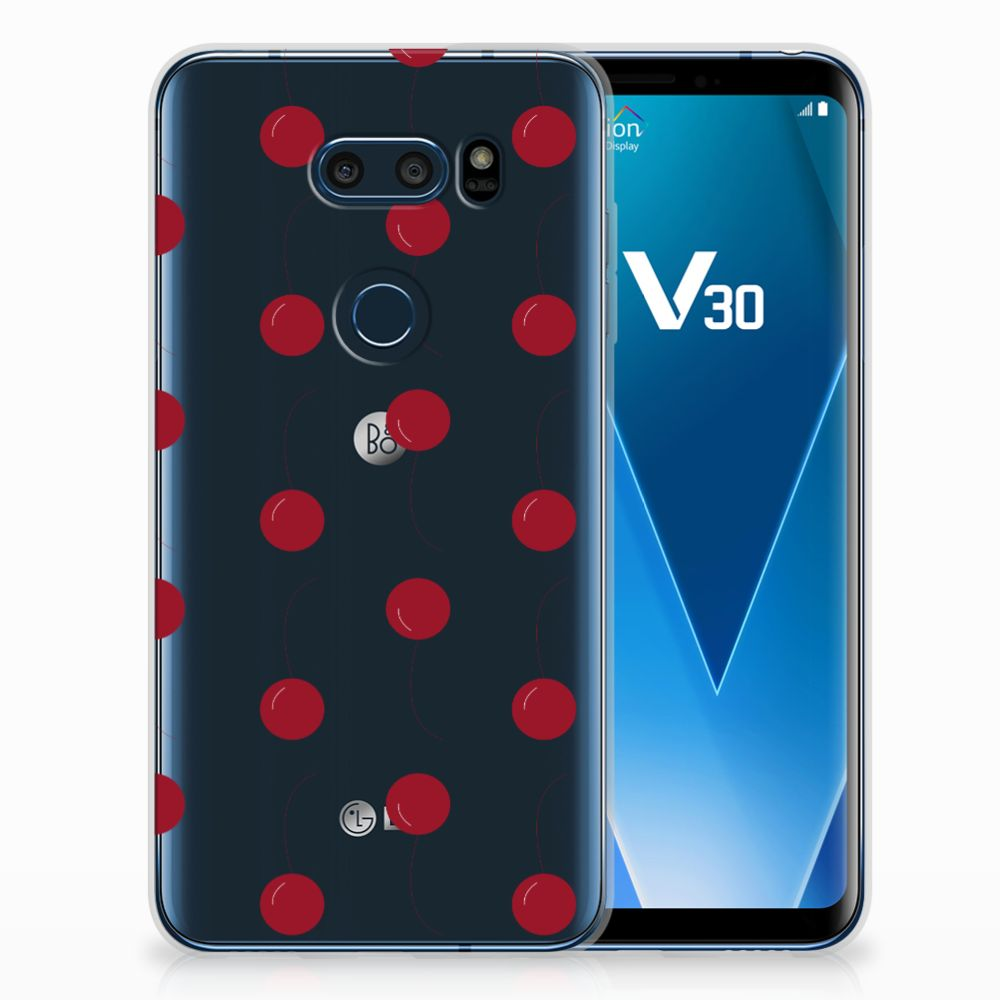 LG V30 Siliconen Case Cherries