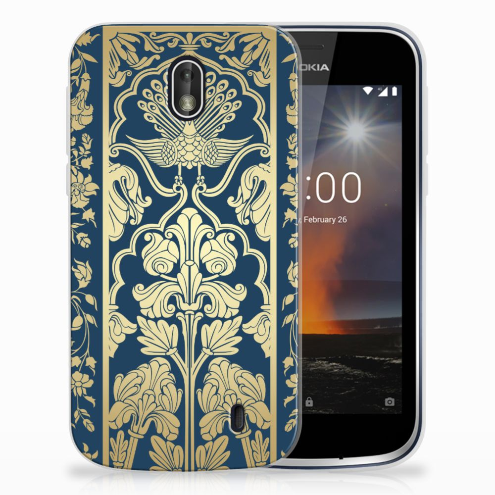 Nokia 1 TPU Case Golden Flowers