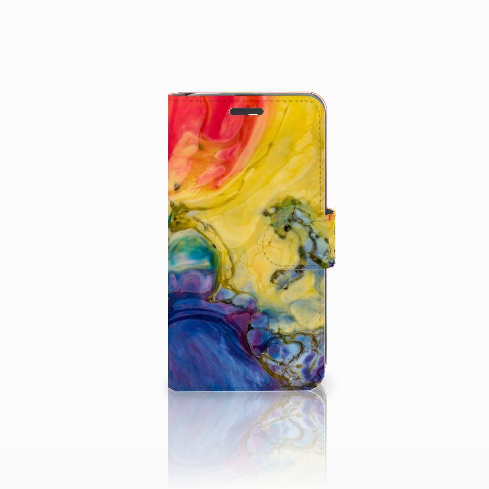 Acer Liquid Z520 Uniek Boekhoesje Watercolor Dark