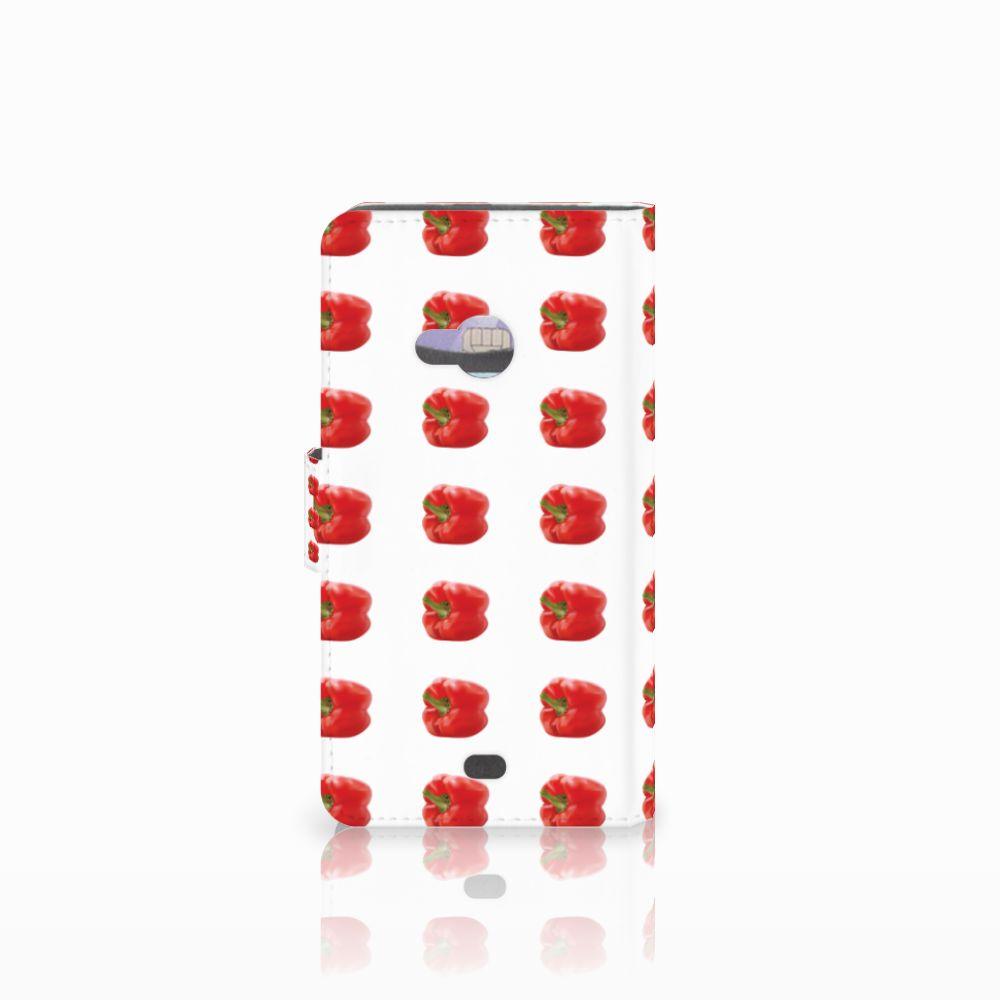 Microsoft Lumia 535 Book Cover Paprika Red