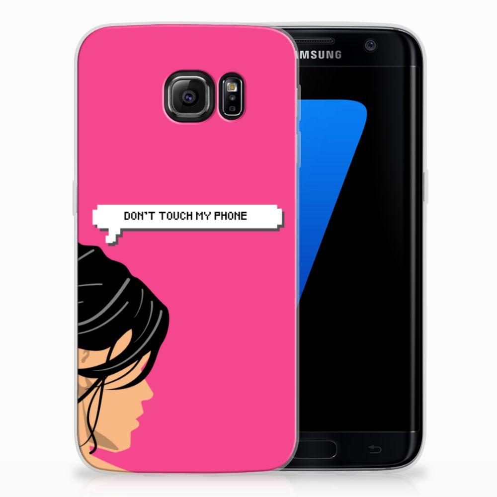 Samsung Galaxy S7 Edge Uniek TPU Hoesje Woman DTMP