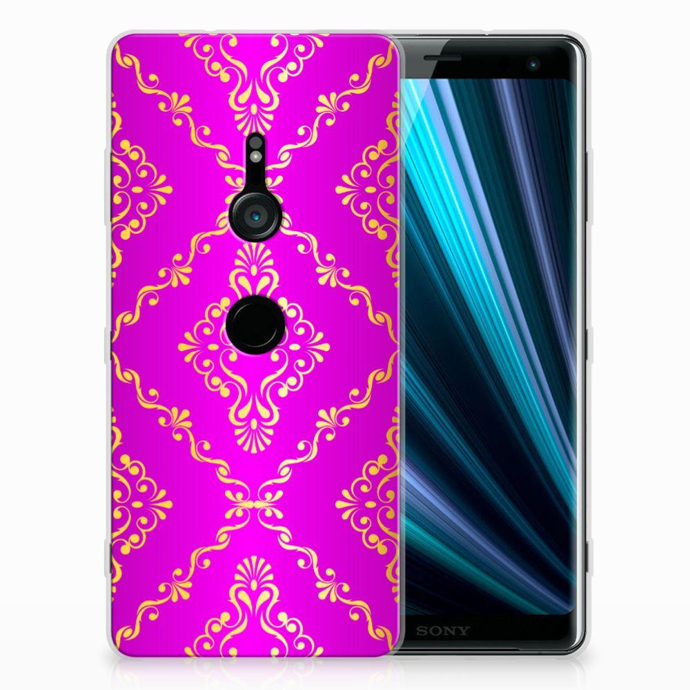 Sony Xperia XZ3 Uniek TPU Hoesje Barok Roze