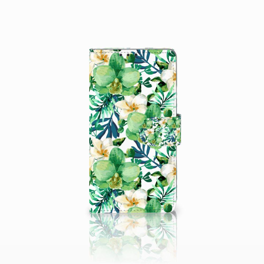 Sony Xperia Z1 Uniek Boekhoesje Orchidee Groen