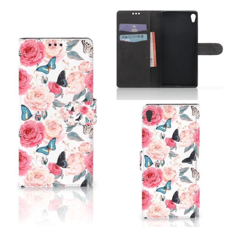 Sony Xperia XA Ultra Hoesje Butterfly Roses