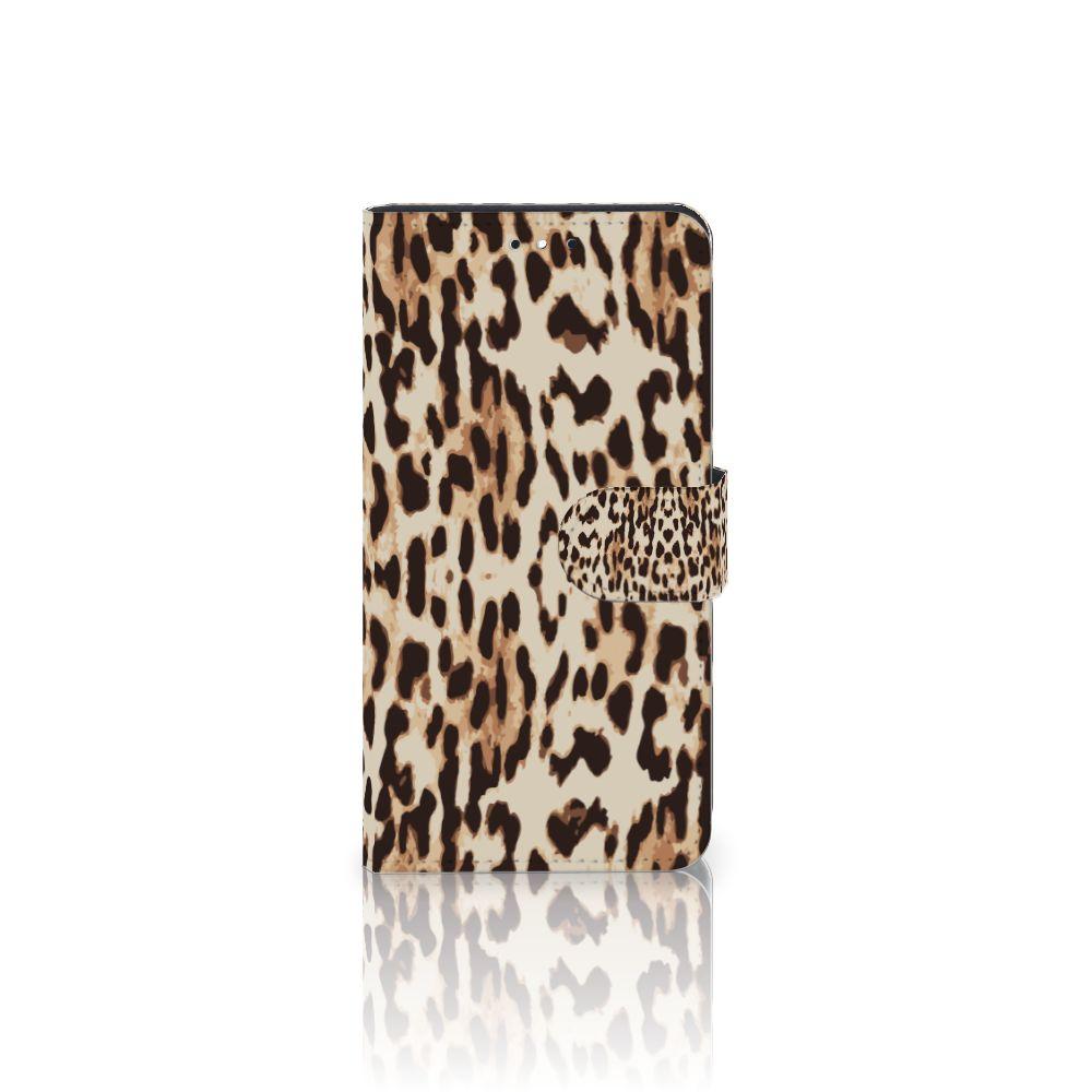 Motorola Moto G5S Plus Uniek Boekhoesje Leopard