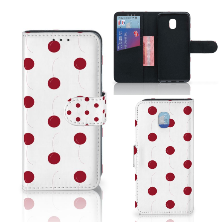 Samsung Galaxy J3 (2018) Book Cover Cherries
