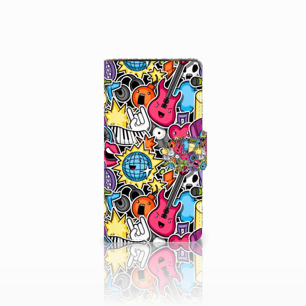 HTC Desire 601 Uniek Boekhoesje Punk Rock