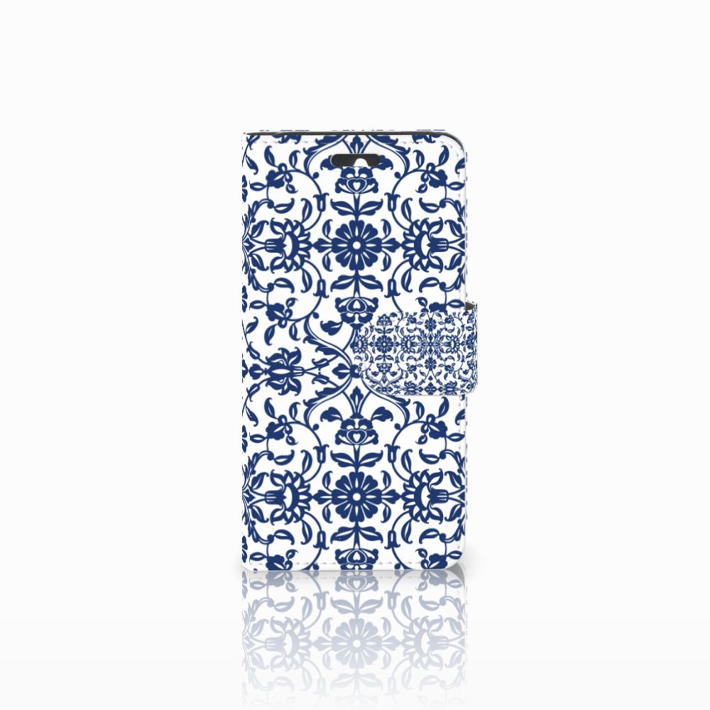 Huawei Ascend Y550 Boekhoesje Flower Blue