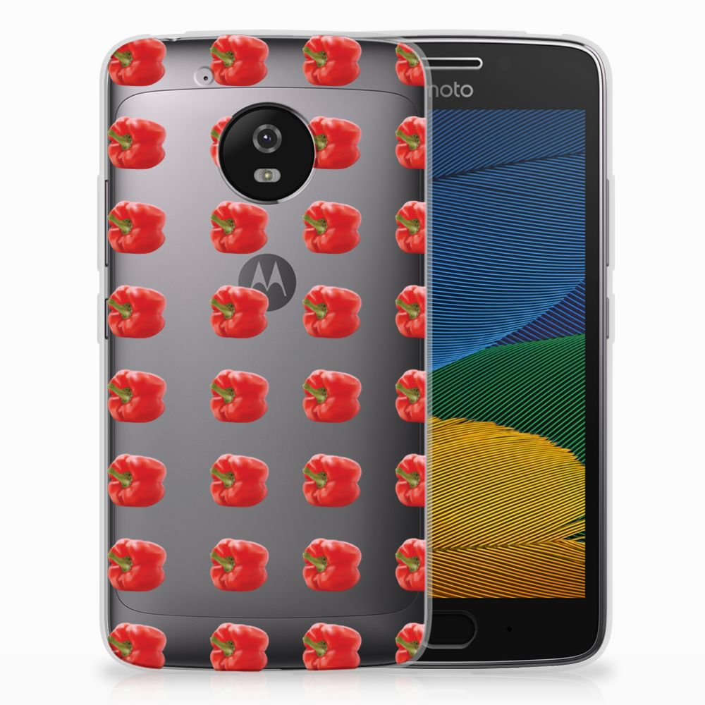 Motorola Moto G5 Siliconen Case Paprika Red