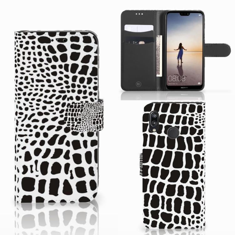 Huawei P20 Lite Telefoonhoesje met Pasjes Slangenprint
