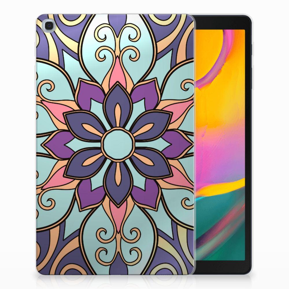 Samsung Galaxy Tab A 10.1 (2019) Tablethoesje Design Purple Flower