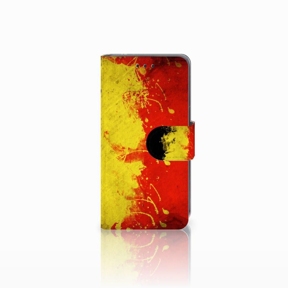 Nokia Lumia 630 Uniek Hoesje met Opbergvakjes Belgische Vlag