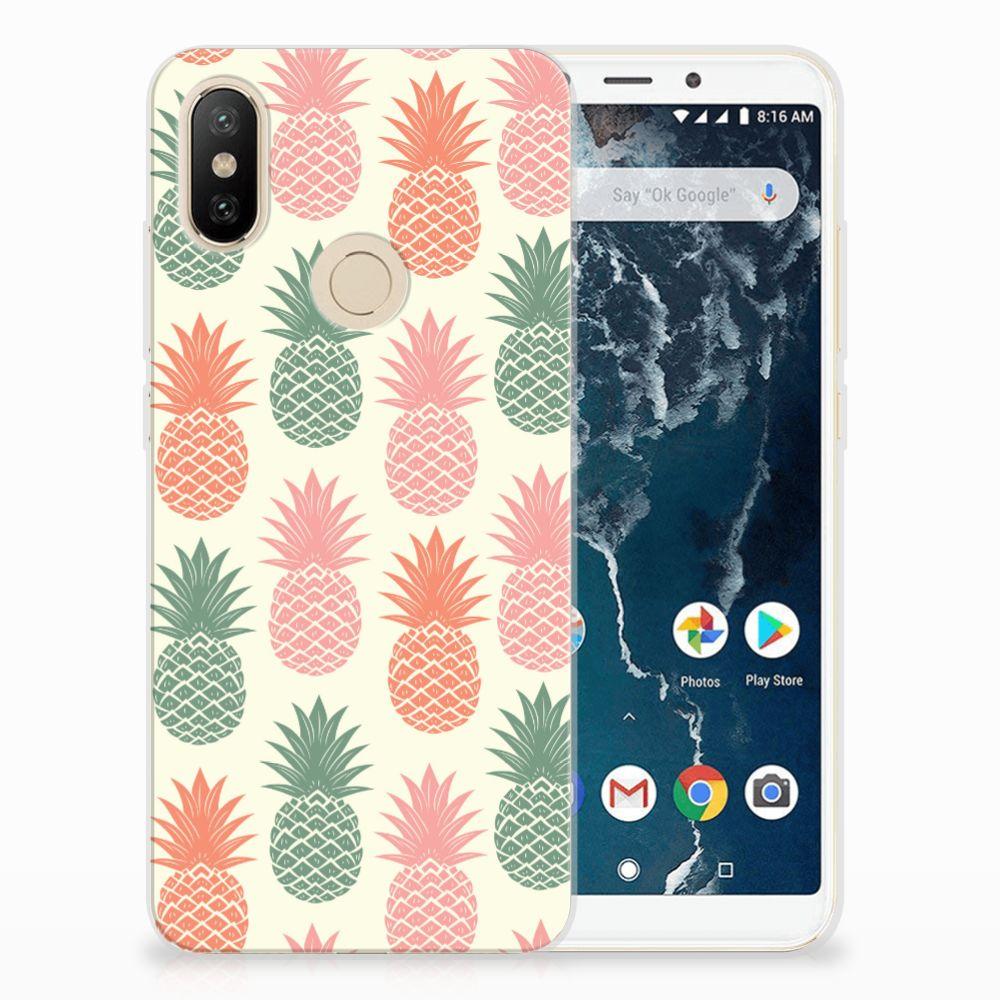 Xiaomi Mi A2 Siliconen Case Ananas