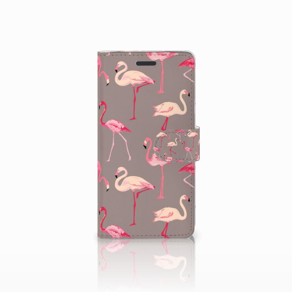 Samsung Galaxy Note 5 Uniek Boekhoesje Flamingo