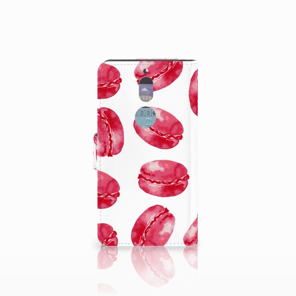 Nokia 7 Book Cover Pink Macarons